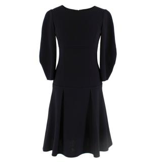 Oscar de La Renta Black Wool Dress