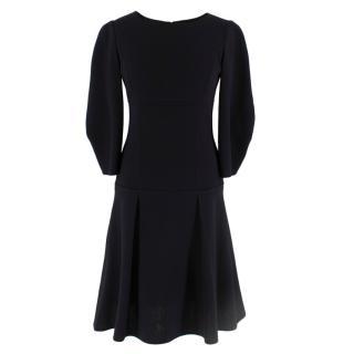 Oscar de La Renta Black Wool Dress