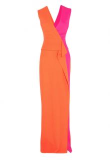 Roksanda Two-tone wool-crepe Gown