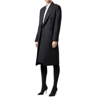 Hugo Boss Grey Wool Blend Coat