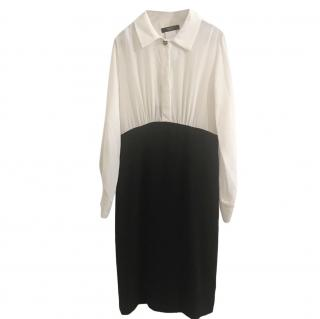 Max Mara Weekend Black & White Silk Dress