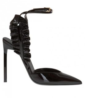 Saint Laurent Black Patent Leather Edie Pumps
