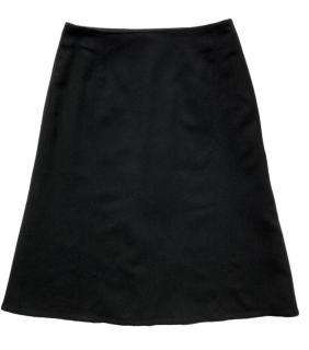 Louis Vuitton Black Cashmere A-Line Skirt