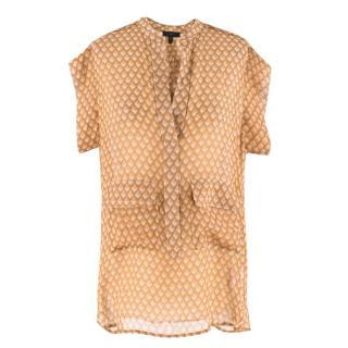 Belstaff Brown Printed Silk Blouse