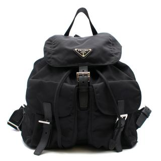 Prada Small Nylon Backpack in Black