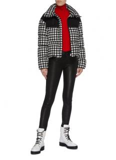 Moncler Nil houndstooth down jacket