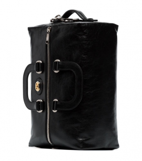 Gucci Morpheus black leather backpack