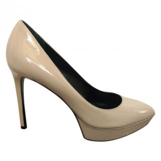 Saint Laurent Janis 80 Nude Pumps