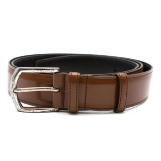 Church's Classic Buckle Belt in Walnut