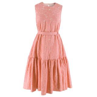Emilia Wickstead floral flocked belted dress
