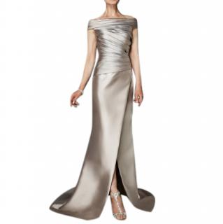Pronovias Mermaid Metallic Stretch Dress