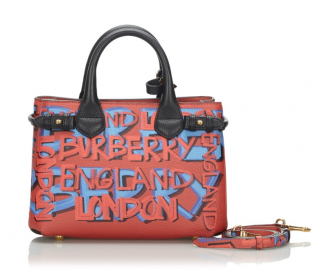 Burberry Small Leather Graffiti Banner Satchel