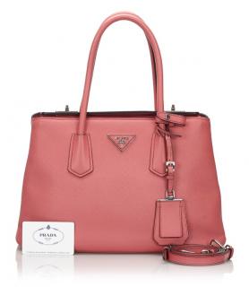 Prada Saffiano Cuir Twin Satchel Bag
