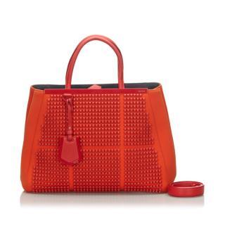 Fendi Studded Neoprene 2Jours Tote Bag