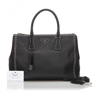 Prada Galleria Double Zip Satchel Bag