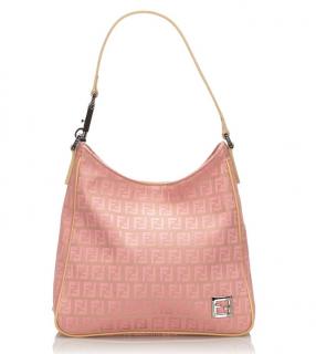 Fendi Zucchino Canvas Shoulder Bag
