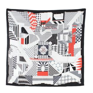 Hermes Promenade Printed Silk Scarf 90
