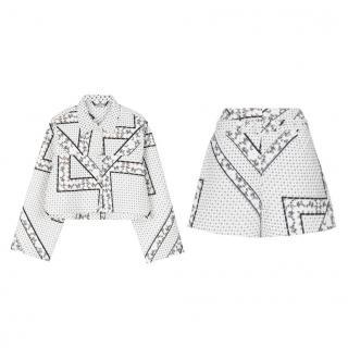 Ganni Elkhart Scarf Print Short Jacket & Shorts