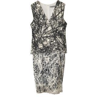 Sportmax Black & White Printed Skirt & Top