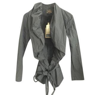 Vivienne Westwood Black Ruffle Trim Jacket