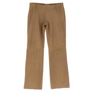 Prada Brown Leather Pants
