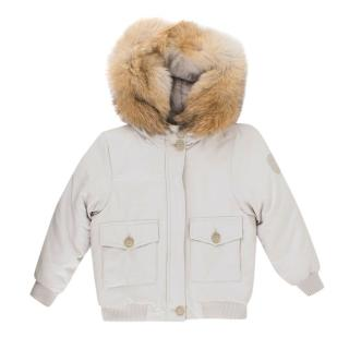 Bonpoint Hooded Jacket with Detachable Fur lining