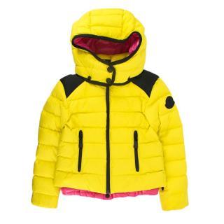 Moncler Neon Yellow & Pink Kids 6 Years Down Jacket