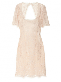 Emilio Pucci Blush Open-back lace dress