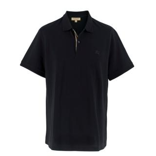 Burberry Men's Black Polo Shirt