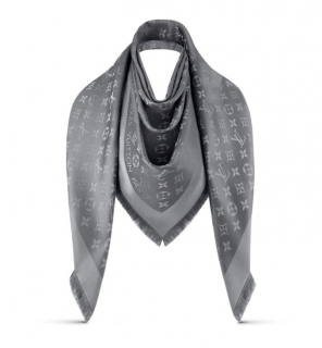 Louis Vuitton monogram shine shawl.