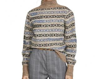 Isabel Marant Etoile Ned Intarsia-Knit Wool Turtleneck Sweater