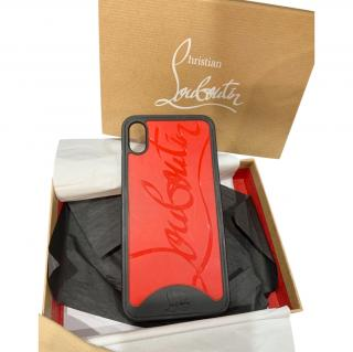 Christian Louboutin Loubiphone Embossed PVC iPhone XS Case