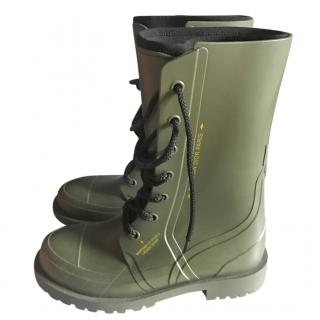 Dior Khaki Camp Wellington Boots
