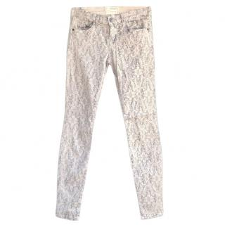 Current Elliott Ankle Skinny Antique Lace Jeans