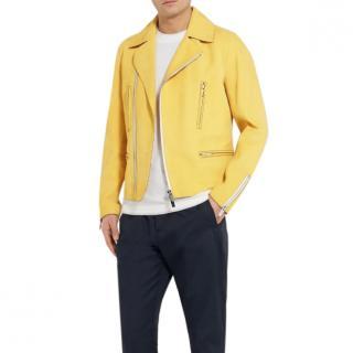 Berluti Kadn Yellow Biker Jacket