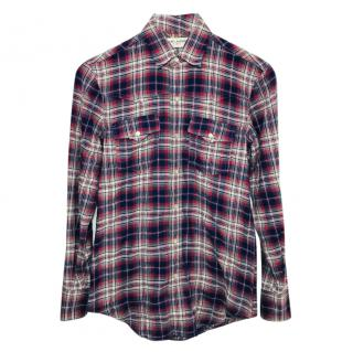 Saint Laurent Plaid Blouse