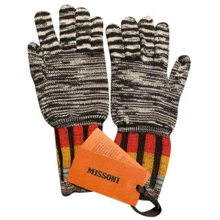 Missoni Black & White Knit Gloves