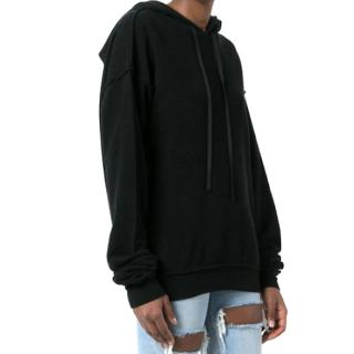 Unravel Project Black Destroyed Back Hoodie