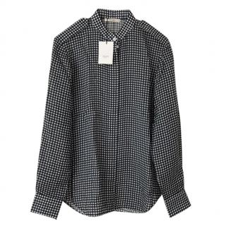 Celine Black & White Check Shirt
