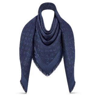 Louis Vuitton Monogram Night Blue Shine Shawl
