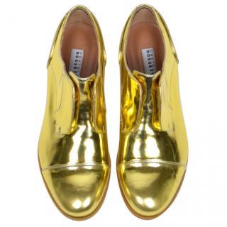 Fratelli Rossetti Gold Mirror Brogues