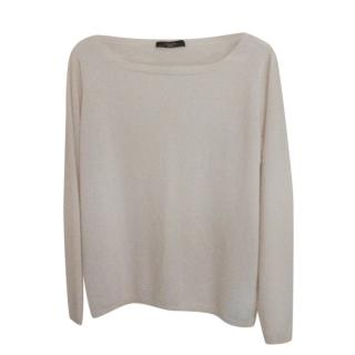 Weekend Max Mara Cream Cashmere Knit Jumper