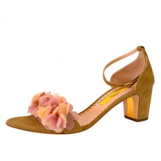 Rupert Sanderson Crimson Clay Suede Sandals