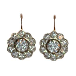 Bespoke VIntage Diamond Handmade Earrings