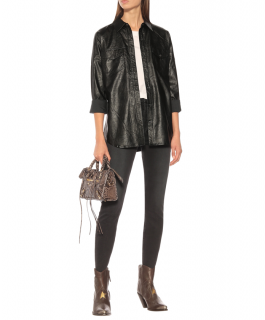 J Brand Perfect faux leather shirt