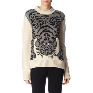 Joseph chunky wool tiger knit jumper