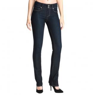 Paige dark blue straight leg jeans