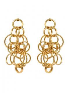 Chloe gold tone multi ring pierced earrings