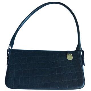 Mulberry vintage dark green leather shoulder bag