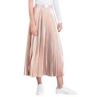 A.L.C Bobby pliss� metallic skirt
